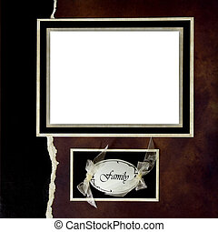 Handmade Scrapbook Paper Page Layout to Insert Your Images -...