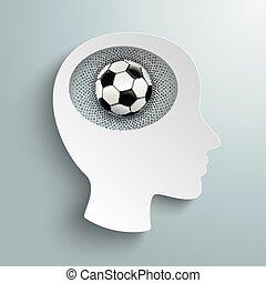 Paper Head Brain Football Halftone