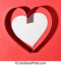 Paper heart with space for your own text