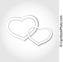 Paper hearts for Valentine Day for design card