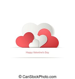 Paper hearts. Happy Valentines Day.