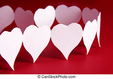 Paper hearts shape