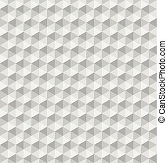 Paper hexagonal pyramids. Seamless vector pattern background. 3D relief