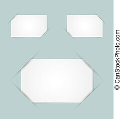 Paper holders - Blank paper cards inserted into another...