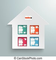 Paper House Colored Window