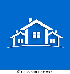 Paper Houses Vector Illustration