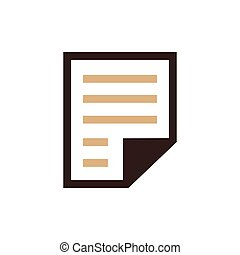 paper icon and Logo brown color