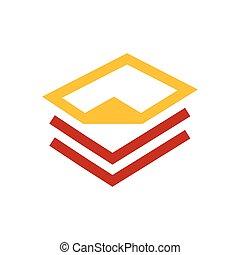 paper icon and Logo design