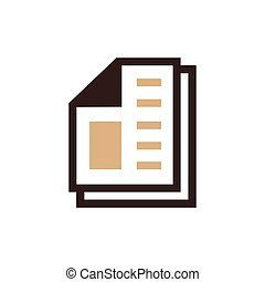 paper icon and Logo vector brown color