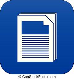 Paper icon blue vector