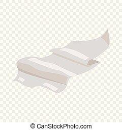 Paper icon, cartoon style