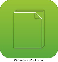 Paper icon green vector