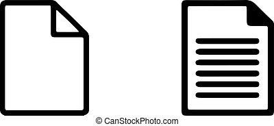 paper icon isolated on white background
