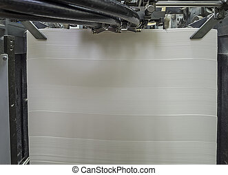 Paper in Offset Printing Machine