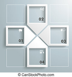 Paper Infographic Arrowframes Cross - Infographic with...