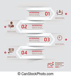 paper., infographic, moderne zaken