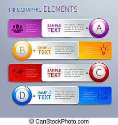 Paper infographics option banners