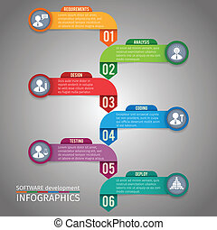 Paper infographics template