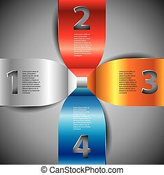 Infographics template, numbered options, vector