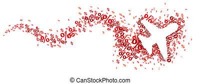 Paper Jet Red Percents Snake Header