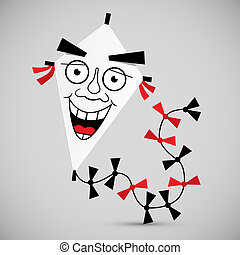Paper Kite - Vector Illustration