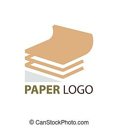 paper logo brown color