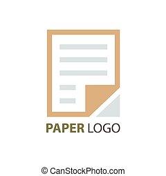 paper logo design brown color