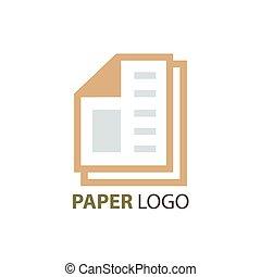 paper logo vector brown color