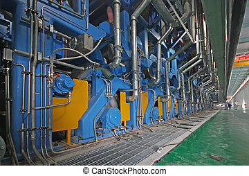 paper machinery equipment in a factory