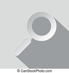 Paper Magnifying Glass - Lupe Vector Illustration