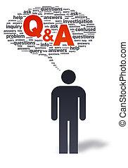 Paper Man with Q&A Bubble - Paper man with Q&A bubble on ...