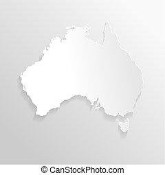 Paper map of Australia
