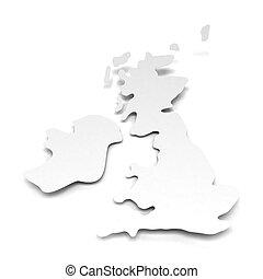 Paper map of UK