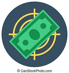 Paper money banknote flat target