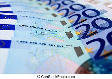 Paper money. Euro.