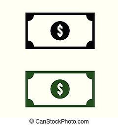 paper money icon with dollar symbol