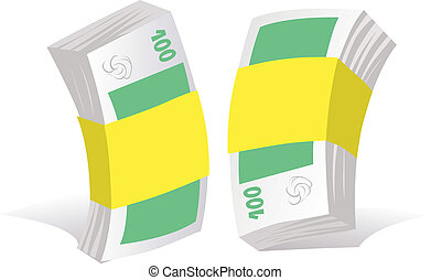 paper money on white background