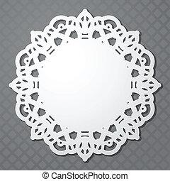 White paper napkin on gray background. eps10