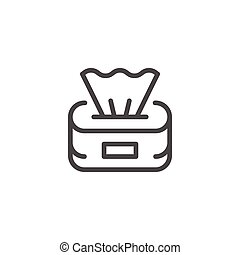 Paper napkins line icon
