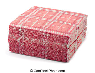 Paper napkins - Stack of pink paper napkins isolated on...