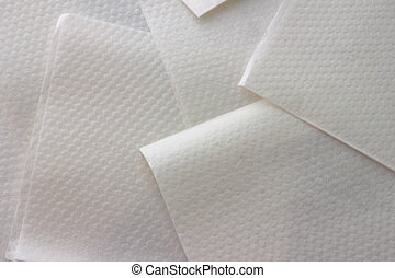 paper napkins - a large number of paper napkins white