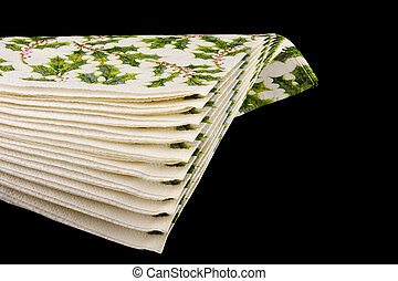 Paper napkins for table on a white background.