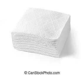 Paper napkins isolated on a white background. with clipping...