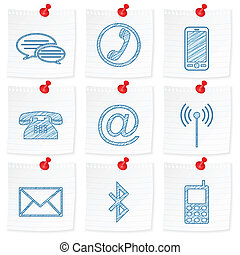 paper note and drawing communication symbol