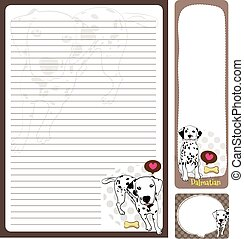 paper note dalmatian