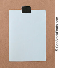 Paper note is empty space on brown wooden for design ...