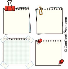 Paper Note on White Background
