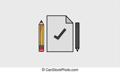 creativity learning design animation - paper note pencil pen...