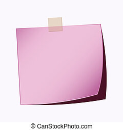 paper note purple color