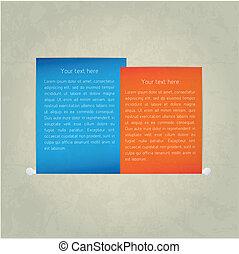 Paper note. Vector
